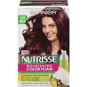 Garnier Nutrisse Nourishing Color Foam, Medium Auburn Beauty