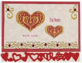 Gold HEARTS DAZZLES Stickers Self Adhesive Love Romance