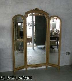 XV DRESSING/VANITY FREE STAND TRIPTYCH MIRROR.FULL SIZE
