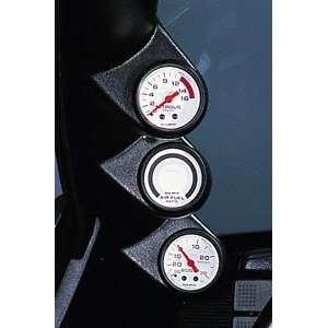 Auto Meter 22447 Black 2 1/16 Triple Pillar for 2002 2004 Honda Civic