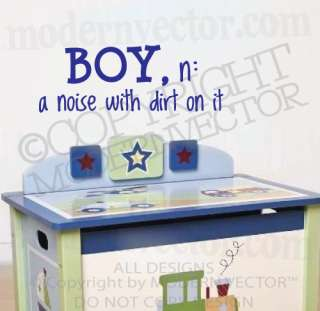 DIRT Quote Vinyl Wall Decal Nursery Boy Definition Lettering