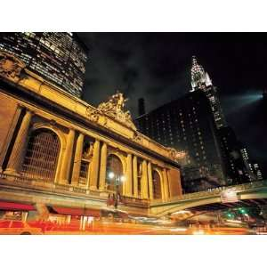 View Of Grand Central Station At Night Wall Mural