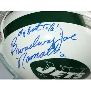 Broadway Joe Namath Autographed Signed Jets Helmet & Video