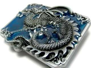 ANCIENT ORIENTAL CHINESE MYSTIC DRAGON TRIBAL TATTOO ART BELT BUCKLE
