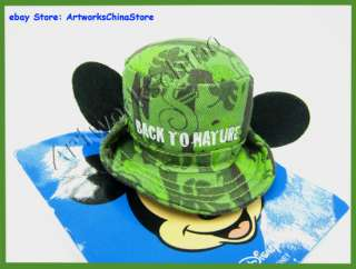 Disney Mickey Mouse Camouflage Hat Barrette Costume Hair Clip Green