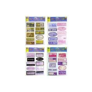 72 Packs of Sentiment scrap book stickers