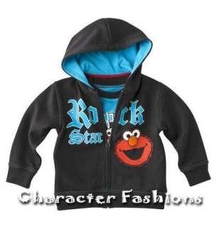 Sesame Street ELMO Hoodie Sweatshirt Size 24 Months 3T 4T 5T Shirt Tee