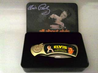 ELVIS PRESLEY POCKET KNIFE & GIFT CASE BRAND NEW