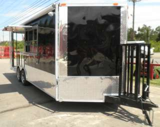 NEW 8.5 x 20 BLACK BBQ EVENT CONCESSION FOOD ENCLOSED SMOKER TRAILER