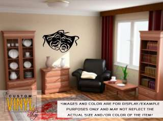 Comedy Tragedy Masks   Vinyl Wall Decal Sticker Decor
