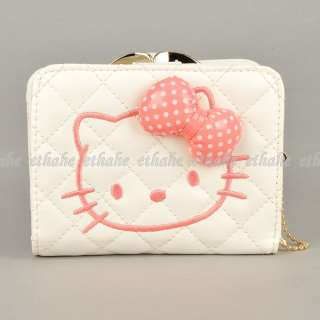 Hello Kitty Bowknot Mini Wallet Coin Purse White E1GEK0
