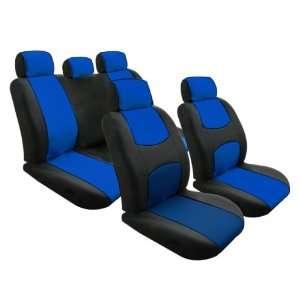 FH FB050115 Univerisal Car Seat Cover Full Set Blue/black