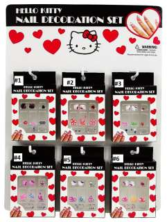 NEW SANRIO HELLO KITTY NAIL DECORATION SET pick 1 design