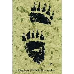 Gaijin Gyotaku Kodiak Brown Bear Paw Print
