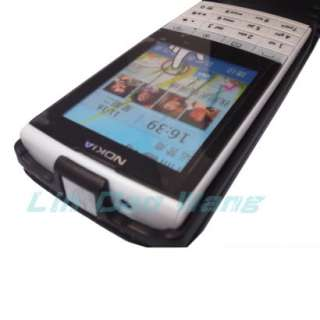 Leather Case Cover Pouch + LCD Film For Nokia X3 02 Touch and Type