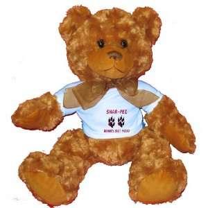 SHAR PEI WOMANS BEST FRIEND Plush Teddy Bear with BLUE T