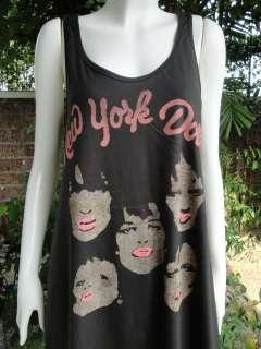 NEW YORK DOLLS American Glam Rock Dress T Shirt M/L