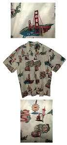 Hawaiian Aloha Shirt San Francisco Cream 3X