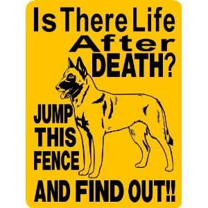 BELGIAN MALINOIS DOG SIGN ALUMINUM