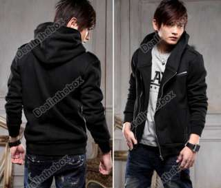 Men Slim Fit Top Designed Mens Casual Zip Up Hoodies Coat Jacket for