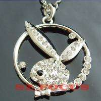 Bunny Crystal Pendant Necklace Christmas Gift  189