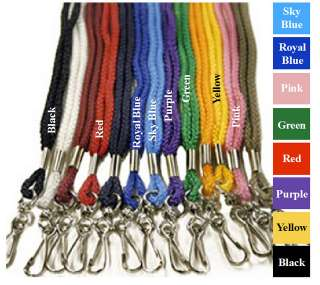 10 Black Lanyards for Backstage Pass Invitations