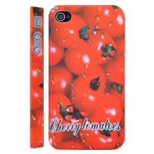Cherry Tomatoes Fruit Pattern Plastic Hard Case for iPhone