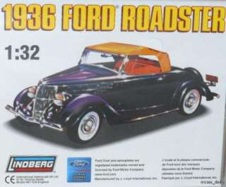 32 1936 Ford Roadster Plastic Authentic Scale Model Kit #72142 NEW