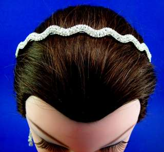 Wedding Bridal Prom Crystal Wave Headband NEW