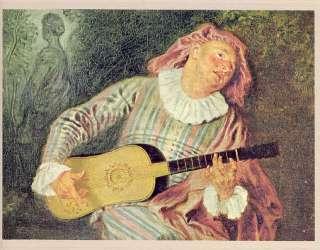 Time Life World Art book Watteau master clown painter