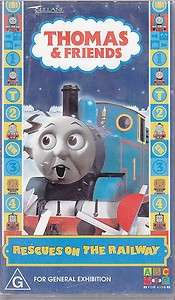 PAL VHS VIDEO  THOMAS TANK ENGINE & FRIENDS RESCUES ON THE RAILWAY