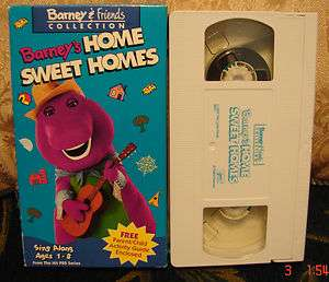 Barneys Home Sweet Homes Vhs Video MINT COND Educational Toddler Kids