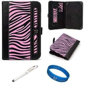 Dauphine Edition Pink Zebra Executive Leather Folio Case