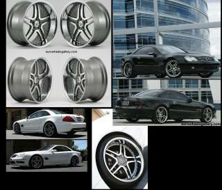 20 WHEELS SET MERCEDES CLS CLASS SL500 CLS500 550 EURO 26 RIMS WITH 5