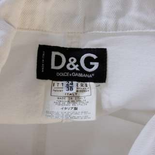 & Gabbana white denim blazer Jean Jacket ITALY sz 38 2 XS S