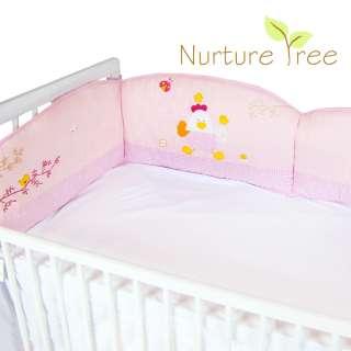 US New Baby Boys Girls Kids Infant Pink Blue Crib Bedding Cot Bumper