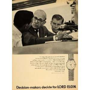 1965 Ad Elgin National Watch Co. Lord 25 Men Watches   Original Print