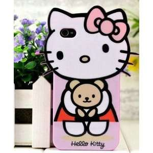 iPhone 4G Cute Hello Kitty with Bear Style Series Soft
