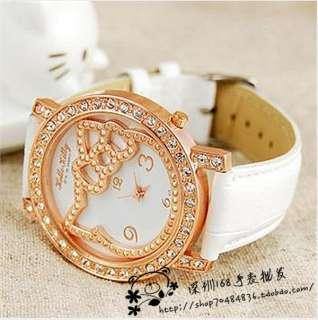 2012 New Stylish HelloKitty Girls women Quartz wrist watch 5pcs/lot R8