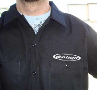 Authentic DICKIES Bud Light Beer Work Shirt New Short Sleeve Button Up