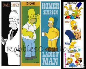 HOMER THE SIMPSONS BOOKMARKS Lisa Marge poster Bart
