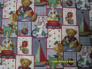 Blue Jean Teddy Bear Toddler Boy Girl Nursery Pillow