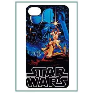 Star Wars War Movie Cartoon Fun Cute Style iPhone 4 iPhone4 Black Case