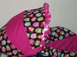 PINK BABY OWL Baby Infant Car Seat Cover Graco MOD OWL