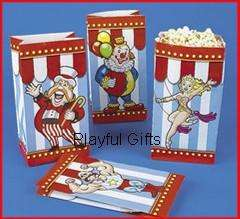 12 Carnival Big Top Party Paper Treat Bags