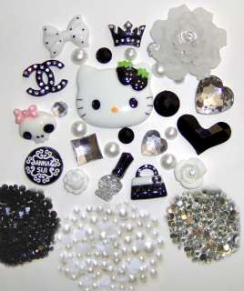 DIY Hello Kitty Bling Bling Flatback Resin Cabochon Deco Kit / Set