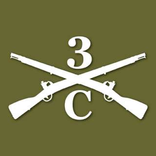 3rd US Infantry The Old Guard C Co Vinyl Decal Sticker
