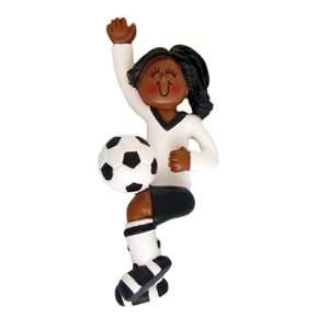 7081 African American female Soccer Player in Black