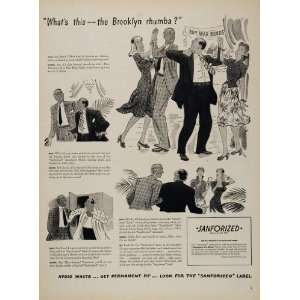 1944 Ad WWII Big Band Dance Home Front Cluett Peabody   Original Print