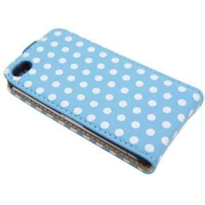 Blue Polka Dot Flip Pouch for iphone 4 & 4S Cell Phones & Accessories